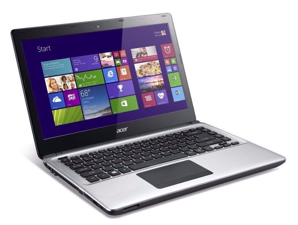 """ACER E1-472G LAPTOP 4TH GEN CORE i5 WEBCAM 500GB 8GB 14"""" HDMI NVIDIA WIN 10"""