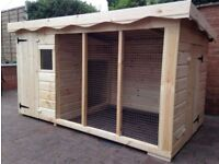 dog kennel and run 8ftx4ft