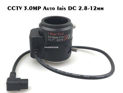 3Megapixel DC AUTO IRIS Varifocal CCTV Lens 2.8-12mm CS Mount F 1:1.4 For HD (12mm Dc Auto Iris)
