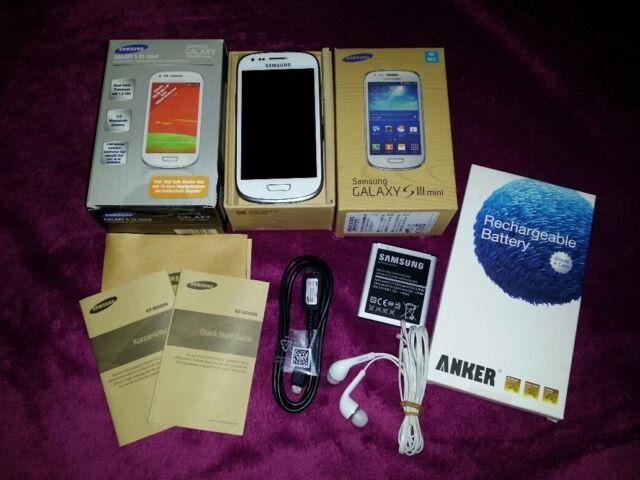 Samsung  Galaxy S III mini GT-I8190 - 8GB - Marble White (Ohne Simlock)+2.Akku