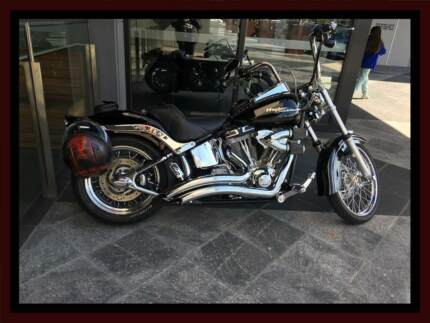 2008 Harley Softail STD with loads of chome extras and stuff