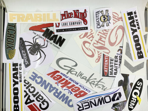 Fishing Stickers LOT of (36) Decals  for Brand Lovers