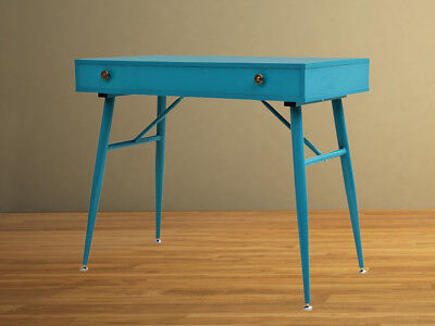 Vintage Writing Desk Retro Industrial Furniture Computer Laptop Console Table