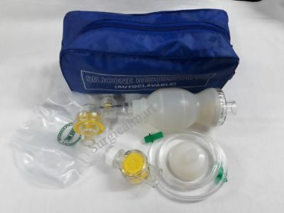 Ambu Bag Infant Silicon Manual Resuscitator Oxygen Tube Mask-cpr First Aid Kit