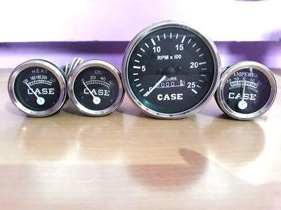Case Tractor Gauge Set Temp Tachometer Oil Pressure Ammeter Fits In 430 470 530