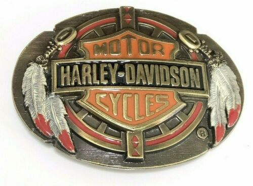 Rare Harley Davidson Belt Buckle Harmony Design 1992 -  Made in USA Brand NEW