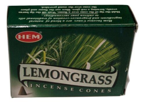 Hem Lemongrass Incense Cones (Single Pack, 10 Cones, Burner)