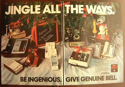 1982 Bell Telephones as Christmas Gifts / Hennessy Couture Shirt Color AD