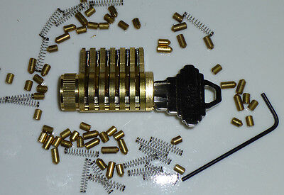 Schlage Cutaway Practice Lock Locksmith Training Spool Pin With Many Extras