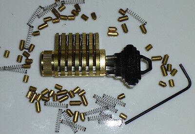SCHLAGE CUTAWAY PRACTICE LOCK, LOCKSMITH TRAINING, SPOOL PIN, PICK ALL BRASS