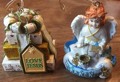 Lot of 2 Christian/Religious Christmas Ornaments By Honor Gifts](Christian Christmas Gifts)