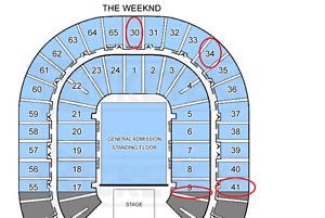 The Weeknd 4x Single tickets MELB Show SAT 09/12/2017 Narre Warren Casey Area Preview