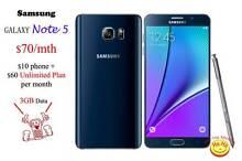 New Samsung Galaxy Note5 Australian Stock 1 month Unlimited data Auburn Auburn Area Preview