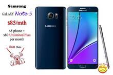 New Samsung Galaxy Note5 Australian Stock Unlimited data 2 months Auburn Auburn Area Preview