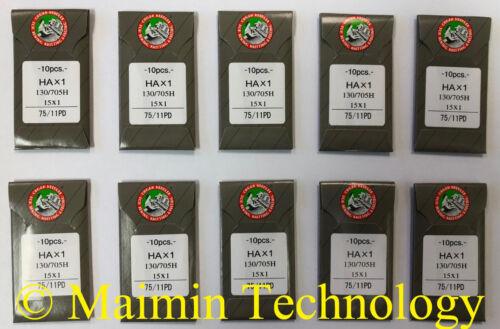 100 ORGAN TITANIUM HOME EMBROIDERY MACHINE NEEDLES 75/11 SHARP 15X1 PD