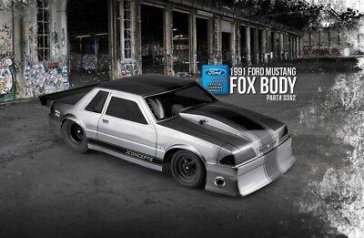 JConcepts 1991 Ford Mustang FOX Body LX Trunk Notch 5.0 1/10 Drag Racing - Drag Body