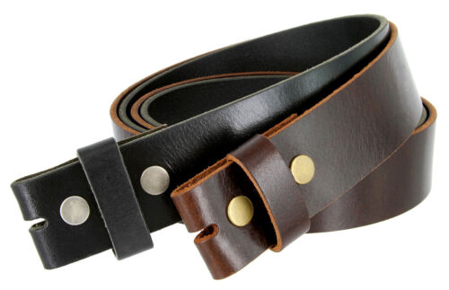 """One Piece Full Grain Buffalo Oil Tanned Leather Replacement Belt Strap 1-1/2"""""""