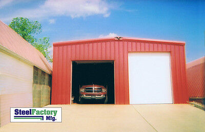 Steel Factory 30x40x14 Rigid Beam Galvanized Frame Garage Building Kit 212 Roof