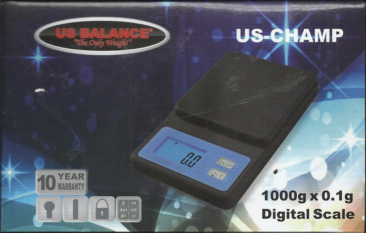 US CHAMP 1000g x0.1g DIGITAL JEWELRY SCALE FROM US BALANCE