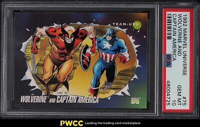 1992 Marvel Universe Captain America Wolverine 75 PSA 10 GEM MINT - $28.00