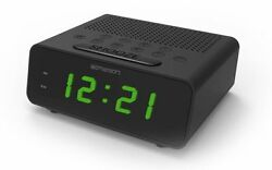 New Emerson SmartSet LED Dual Alarm Clock AM/FM Radio Automatic Daylight Savings