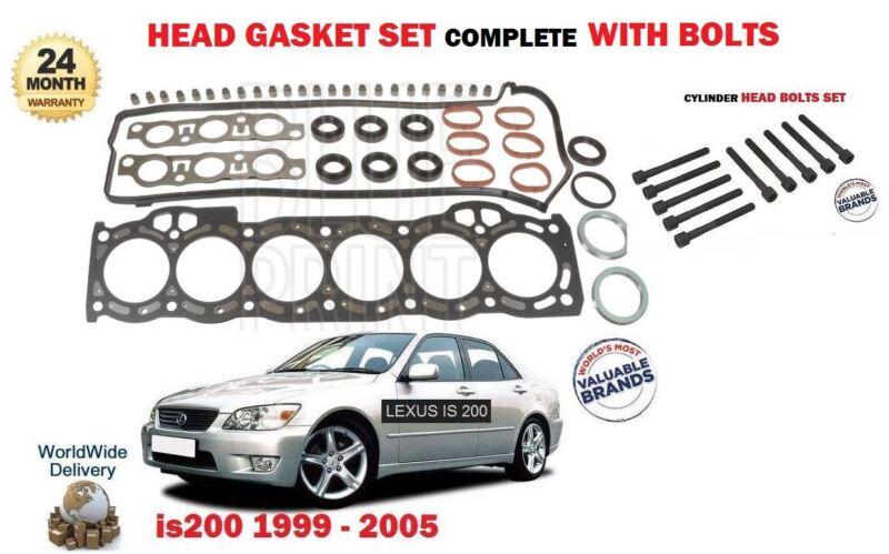 FOR LEXUS IS200 2.0 1G-FE 1999-2005 NEW CYLINDER HEAD GASKET SET + HEAD BOLT KIT