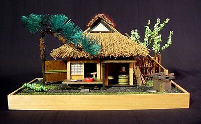 Vintage Japanese Miniature Micro Japanese Teahouse Diorama Hand Made T