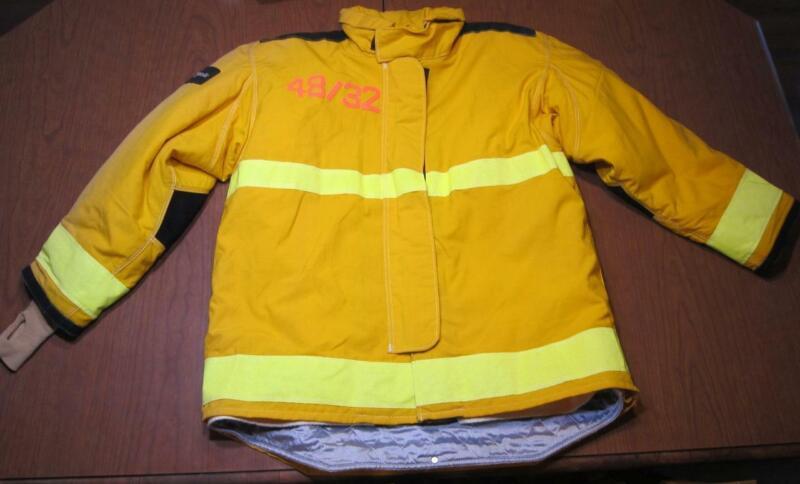 Lion Janesville Firefighter Fireman Turnout Gear Jacket Size 48.32.R - [D] (F1)
