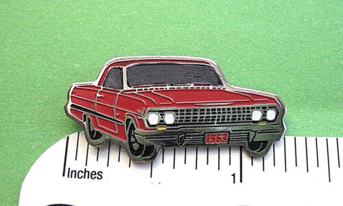 1963 63 Chevrolet  Impala  hat pin , tie tac , lapel pin , hatpin GIFT BOXED ga