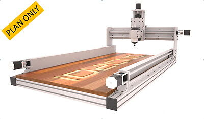 Cnc Router Plans Incude 2x4ft 4x2ft 4x4ft Information Id2cnc V.2.1