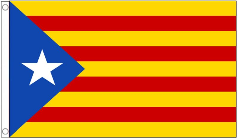 Spain Catalonia Estelada Lone Star Separatists 5