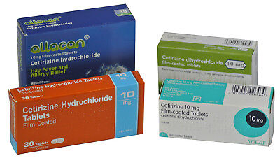 Cetirizine 10mg Hay Fever Allergy Relief Antihistamine Generic Tablets (9 x 30)
