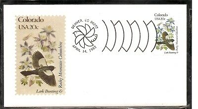 US SC # 1958 State Birds And Flowers ( Colorado ) FDC. Andrews Cachet .