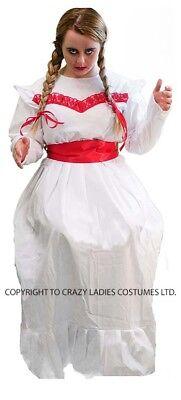 HALLOWEEN-Horror-Scary-Creepy-Evil-ANNABELLE HORROR DOLL All Ladies Sizes (Annabelle Doll Costume)