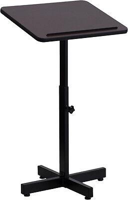 Portable Metal Base Laminate Top Stand Up Lectern Podium