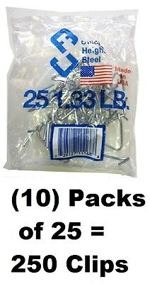 10 Ea Chicago Heights M005fast25rg025 25 Packs T-post Fence Post Clip Fastener