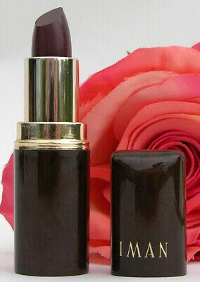 IMAN Luxury Lipstick Lip Licorice .14 oz Dark Purple Wine Burgundy AS IS (Is Burgundy Purple)