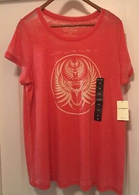 Lucky Brand Plus Size Women's Journey Tee Shirt NWT $40 1X