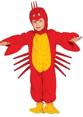 Baby Girls Boys Lobster Under The Sea Fancy Dress Costume Outfit 6-12-24 - Baby Lobster Outfit