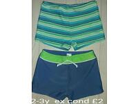 Boys 2-3 years bundle of swim trunks
