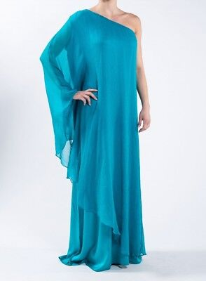 Join Clothes Silk One Shoulder Grecian Dress One Size - Grecian Attire