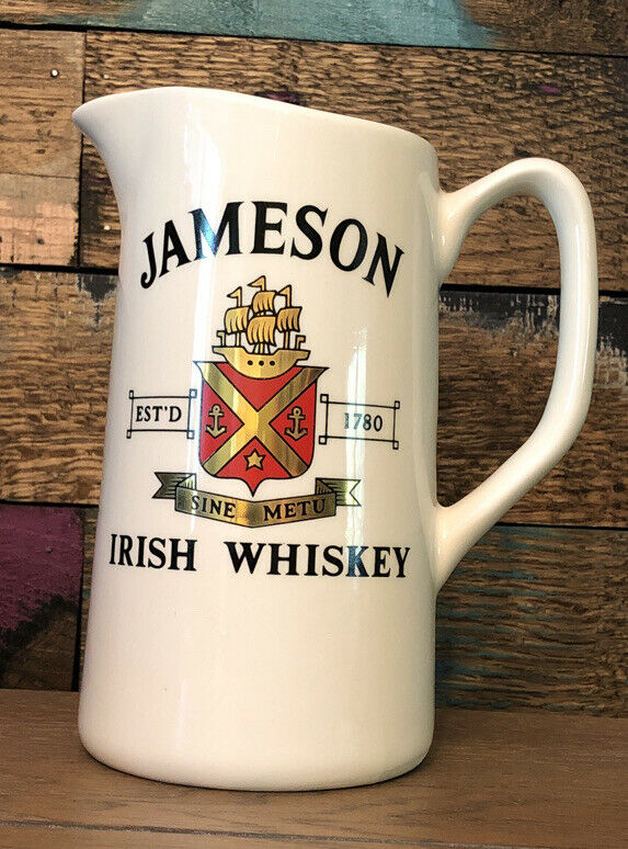 Jameson Irish Whisky Vintage Barware Pitcher Advertising Bar Ireland