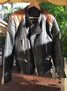 Men's Vintage Leather Biker Jacket Byron Bay Byron Area Preview