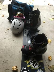 snow board and equipment