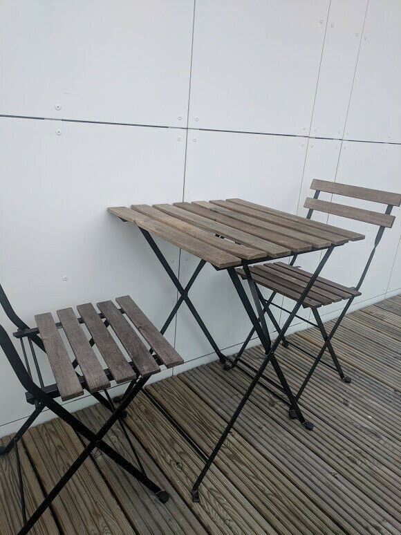 Garden Balcony Table And Two Chairs Wood Folding Ikea In Enfield London Gumtree