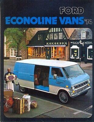 Ford Econoline Vans 1974 USA market sales brochure