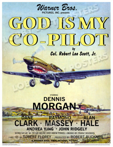 GOD IS MY CO-PILOT LOBBY CARD POSTER OS 1945 DENNIS MORGAN RAYMOND MASSEY