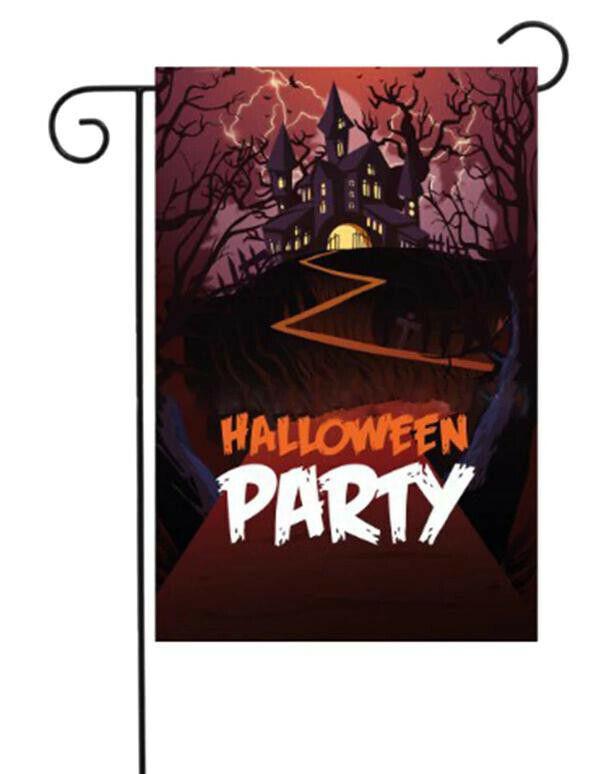 Halloween Theme Garden Flag Banner Home Yard Bar Party Decor