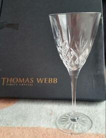 Thomas Webb Crystal Glasses set of 6