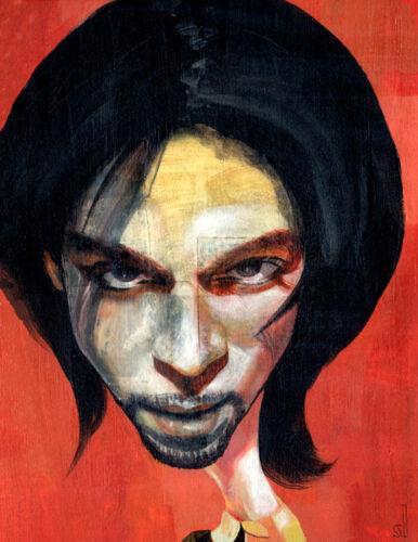 Portrait-of-Prince-Archival-Fine-Art-Print-11x14-Giclee-1999-Rock-Music-Purple